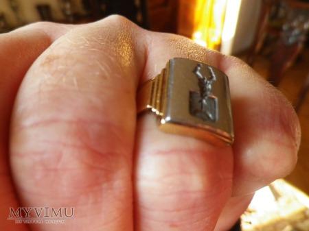 Herb Ogończyk- sygnet złoty