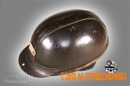Skórzany kask górniczy
