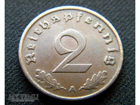 Duże zdjęcie 2 reichspfennig 1938