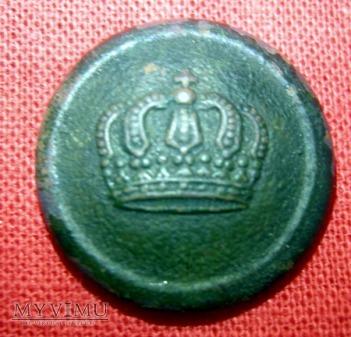 Duże zdjęcie Pruski guzik z koroną zamkniętą