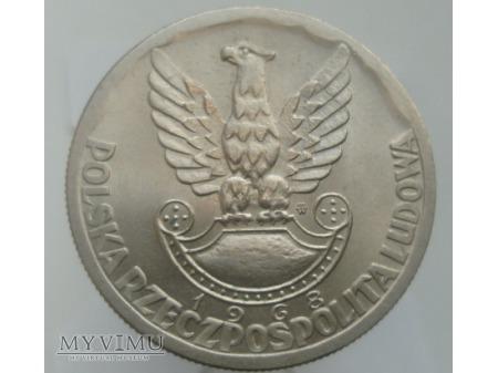 XXV Lat Ludowego Wojska Polskiego, 10 zł, 1968 rok