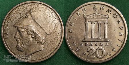 Grecja, 20 Drachm 1978