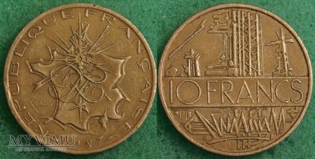 Francja, 10 Francs 1987