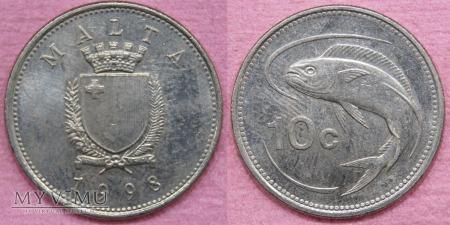Duże zdjęcie Malta, 10 Centów 1998