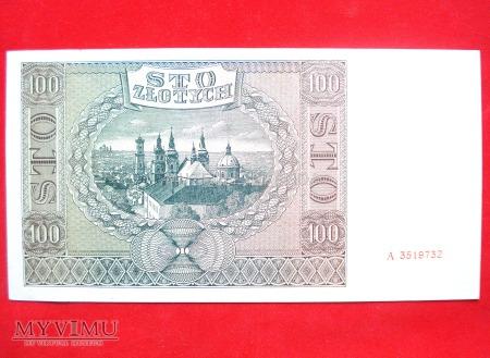100 złotych 1941 rok