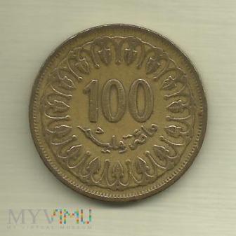 Tunezja 100 millimów, 1983
