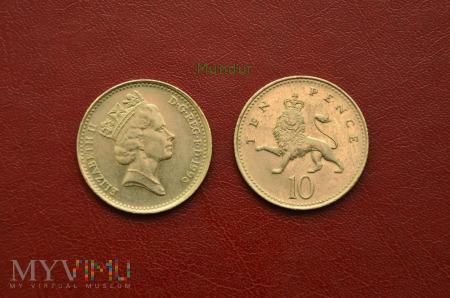Moneta brytyjska: 10 pence 1996