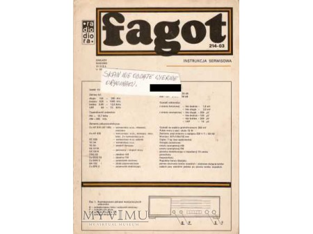 Instrukcja radia FAGOT