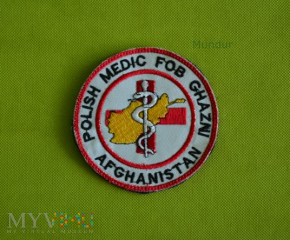 Oznaka misyjna: Polish Medic FOB Ghazni