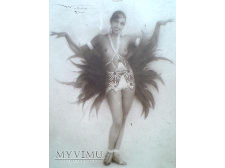 Duże zdjęcie Joséphine Baker Art Deco IRIS UWAGA !! Topless ...