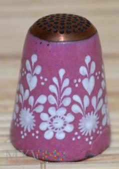 Naparstek emaliowany- różowy