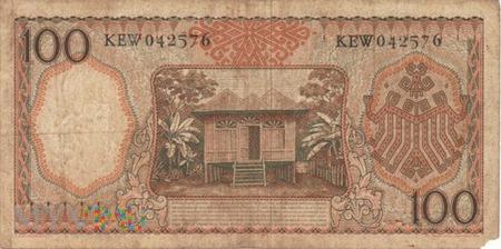 INDONEZJA 100 RUPII 1958