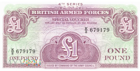 Wielka Brytania (BAF) - 1 funt (1962)