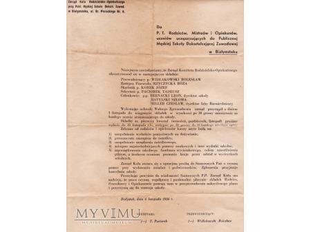 Dokument z 1936.