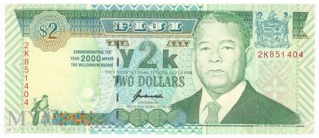 Fidżi - 2 dolary (2000)