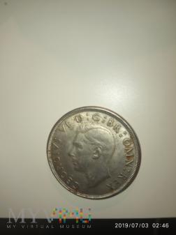 Monetą koronowana GEORGE VI Duża srebrna