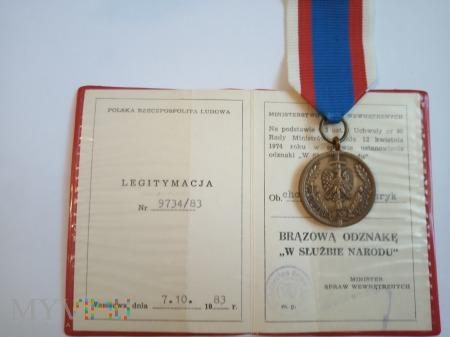 Odznaka W Służbie Narodu