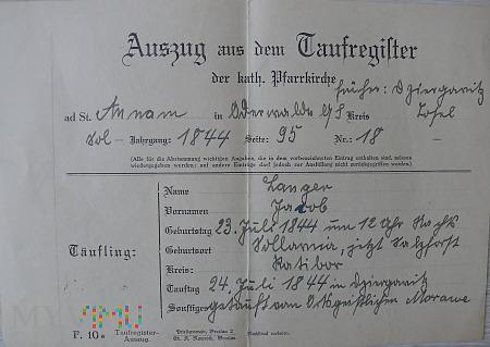 Odpis aktu chrztu
