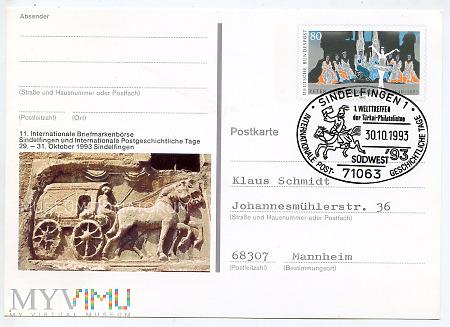 Karta pocztowa okolicznościowa - 1993