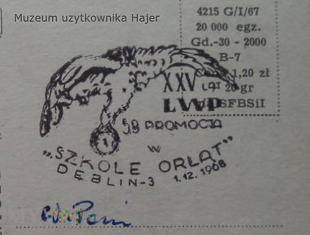 XXV lat LWP 58 Promocja w Szkole Orląt Dęblin 1968