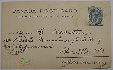 Kanada kartka pocztowa 1899 Victoria