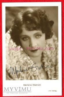 Marlene Dietrich IRIS AMAG 5433 autograf