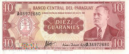 Paragwaj - 10 guarani (1963)