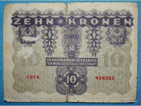 10 KORON 1922