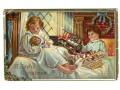 1914 dzieci i prezenty - aeroplan, lokomotywa