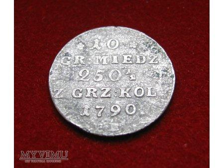 10 groszy koronne E.B. 1790