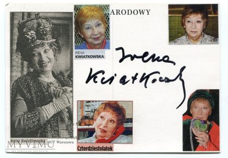 Irena Kwiatkowska Autograf i pocztówka