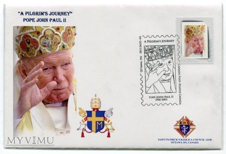 Duże zdjęcie Papież Jan Paweł II FDC koperta i znaczki Kanada