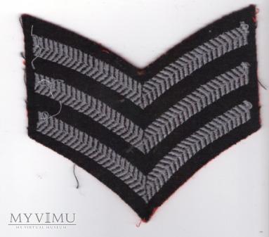 Wieka Brytania - oznaka stopnia: sierżant