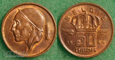 Belgia, 50 Centimes 1964