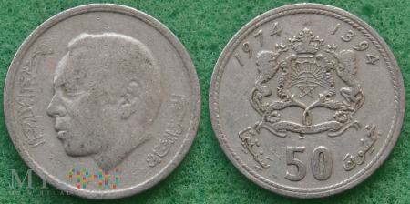 Maroko, 50 Centimes 1974
