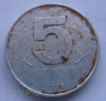 5 PFENNIG 1968 A Niemcy DDR