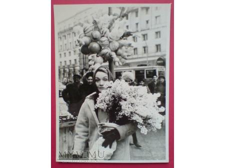 Duże zdjęcie Marlene Dietrich w Warszawie, styczeń 1964