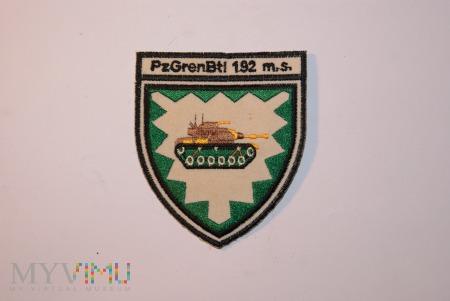 Naszywka PzGrenBtl 192 m.s.