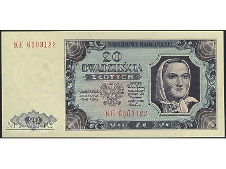 20 zł 1948 r.