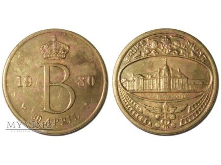 sRuks Munt Belgia żeton 1980