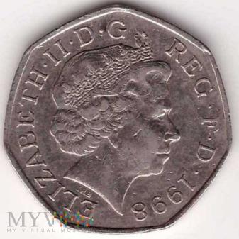 Wielka Brytania, 50 pence 1998