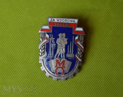 Odznaka: ZA WZOROWĄ SŁUŻBĘ w MO; srebrna