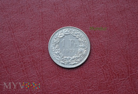 Moneta szwajcarska: 1 Fr.