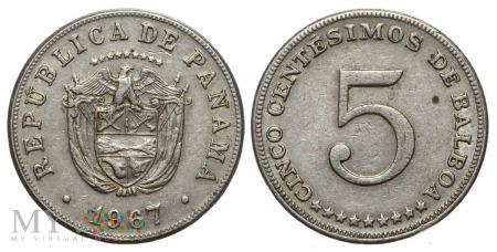 Panama, 5 CENTESIMOS 1967