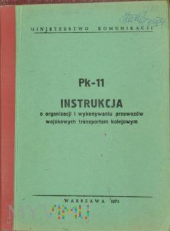 Duże zdjęcie 1971 - Pk-11 Instrukcja o przewozach wojskowych