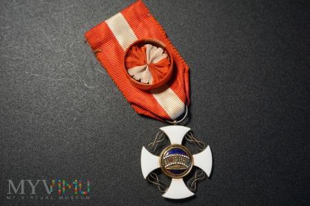 Order Korony Włoch - Krzyż Oficerski z nadaniem