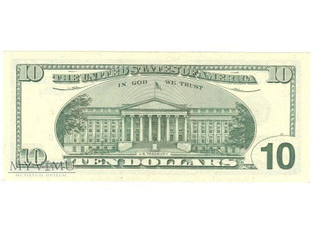 10 USD 2001 FEDERAL RESERVE NOTE