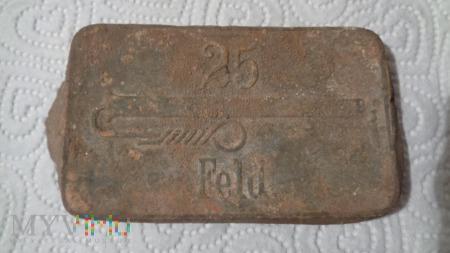 Duże zdjęcie pudełko po pruskich zapłonnikach artyleryjskich