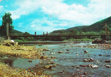 USTROŃ JASZOWIEC - Most wiszący na Wiśle