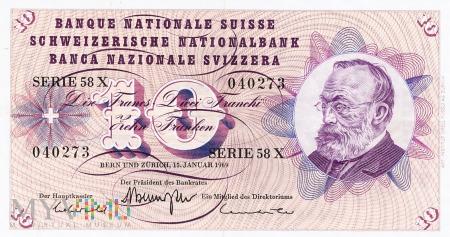 Szwajcaria - 10 franków (1969)